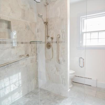 detailed shower remodeling