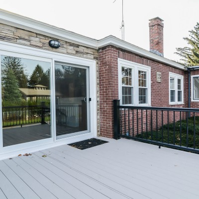 New Deck with Glass Door Entry