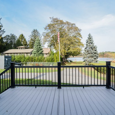 Deck with Railing on New Home Remodel