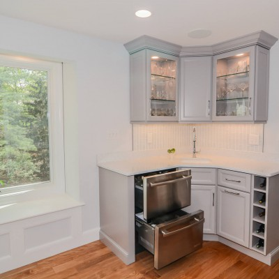 New Kitchen Remodel in Wellesley with Windows