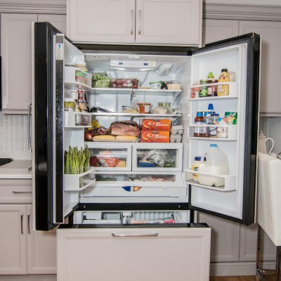 Full kitchen remodeling with fridge