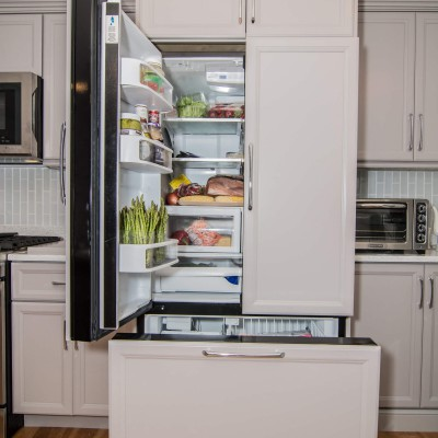 Refrigerator with new kitchen remodel