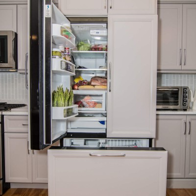 Wellesley kitchen remodel with fridge