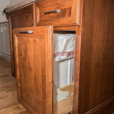 beautiful cabinet work in remodel