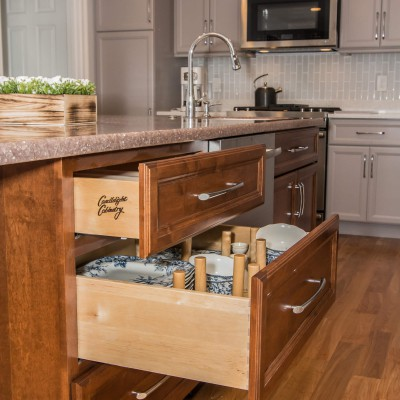 new drawers in island remodeling