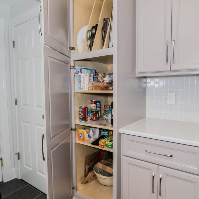 Large cabinet in kitchen remodel