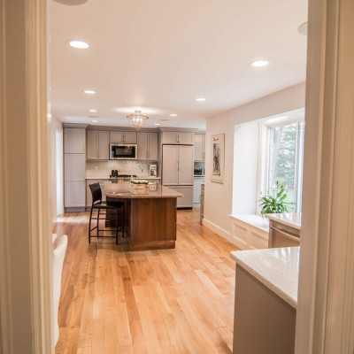 Island in Wellesley kitchen remodel